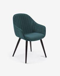 Καρέκλα Fabia, τυρκουάζ βελούδο