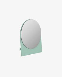 Mica mirror green 17 x 20 cm