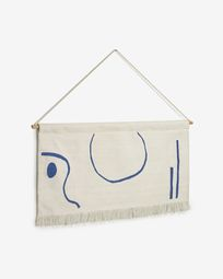 Atal tapestry with blue shapes 70 x 36 cm