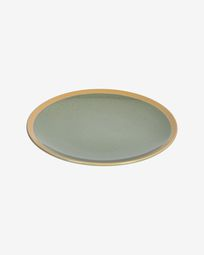 Tilia ceramic dinner plate in dark green