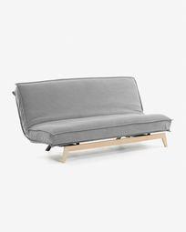 Καναπές-κρεβάτι Eveline, 195 εκ,  σκελετός σε γκρι ξύλο