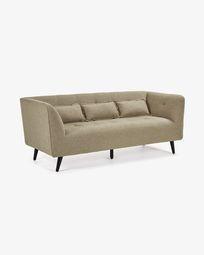 Saffron 3-seater sofa in brown 200 cm
