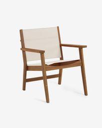 Πολυθρόνα εξωτερικού χώρου Hilda, ξύλο ακακίας, μπεζ FSC 100%