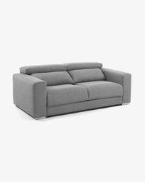 3θ καναπές Atlanta 210 εκ, ανοιχτό γκρι