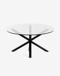 Full Argo coffee table glass black Ø 82 cm