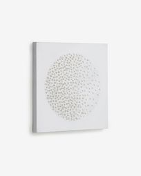 Adys picture with circle and white dots 40 x 40 cm