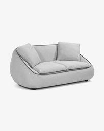 2θ καναπές Safira 180 εκ, ανοιχτό γκρι