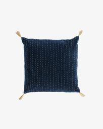 Berenice blue corduroy cushion cover 45 x 45 cm