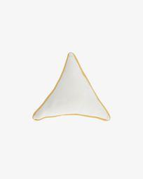 Τρίγωνο μαξιλάρι Fresia, λευκό