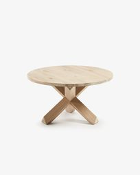 Wooden Lotus coffe table Ø 65 cm