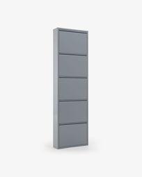 Shoe rack Ode 50 x 168,5 cm 5 doors grey
