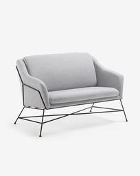 Brida 2-seater sofa in grey 128 cm