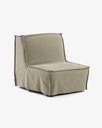 Καναπές-κρεβάτι Lyanna 90 εκ, μπεζ