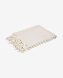 Ριχτάρι Shallow, 100% βαμβακερό, 130 x 170 εκ, λευκό