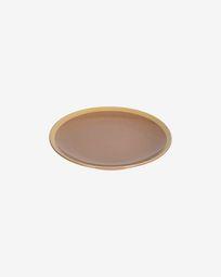 Tilia ceramic dessert plate in light brown