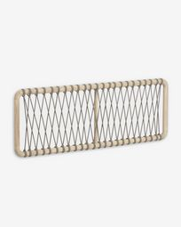 Aberash solid mindi wood headboard 165 x 60 cm