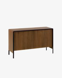 Walnut wood Nadyria sideboard 140 x 82 cm