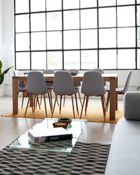 Briva extendable table with natural oak veneer 180 (230) x 90 cm