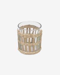 Ποτήρι Emelia, διάφανο και καφέ ίνες