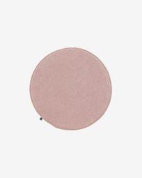 Στρογγυλό μαξιλάρι καθίσματος Sora, 35 εκ, ροζ κοτλέ