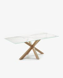 Τραπέζι Argo 200 εκ, πορσελάνη και πόδια με εφέ ξύλου