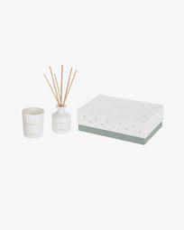 Αρωματικό κερί & Διαχυτής με sticks White Soul