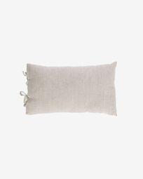 Tazu 100% linen cushion cover in beige 30 x 50 cm