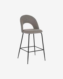 Mahalia light grey stool height 63 cm