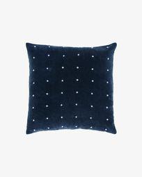 Aines blue corduroy cushion cover 45 x 45 cm