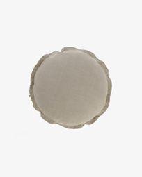 Κάλυμμα μαξιλαριού Maelina Ø 45 εκ, μπεζ