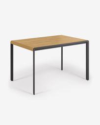 Ανοιγόμενο τραπέζι Nadyria 120 (160) x 80 εκ, δρύινος καπλαμάς