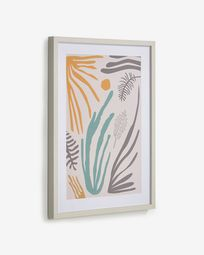 Kamara picture with multicoloured seaweed 50 x 70 cm