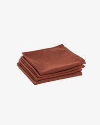 Σετ 4 πετσέτες Samay, καφέ