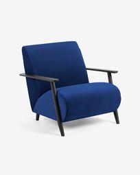 Πολυθρόνα Meghan, μπλε βελούδο