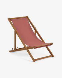 Adredna solid acacia outdoor deck chair in terracotta FSC 100%