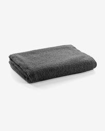 Μεγάλη πετσέτα μπάνιου Miekki, σκούρο γκρι