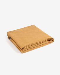 Κάλυμμα για 2θ καναπέ Blok με ανάκλινδρο δεξιά, μουσταρδί λινό