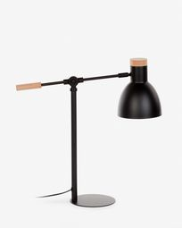 Επιτραπέζιο φωτιστικο Tescarle, μαύρο