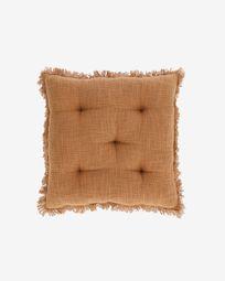 Brunela 100% cotton brown chair cushion 45 x 45 cm