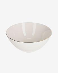 Taisia large porcelain bowl in white