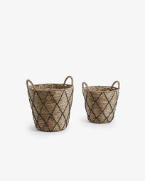 Mast set of 2 baskets black