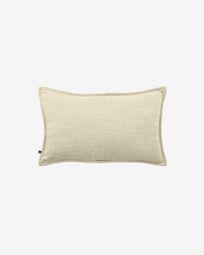 Κάλυμμα μαξιλαριού Blok, λινό λευκό, 30 x 50 εκ