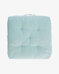 Sarit 100% cotton blue floor cushion 60 x 60 cm
