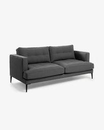 3θ Καναπές Tanya 183 εκ, σκούρο γκρι